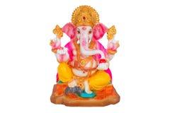 Het standbeeld van Ganesh met het knippen van weg stock foto
