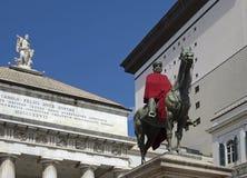 Het standbeeld van Garibaldi in Genua stock afbeeldingen
