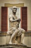 Het Standbeeld van Giovanni delle Bande Nere in Florence Stock Afbeeldingen