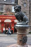 Het standbeeld van Greyfriarsbobby in Edinburgh Stock Fotografie