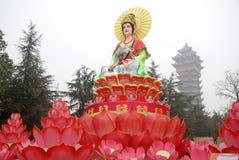 Het standbeeld van Guanyinbodhisattva Royalty-vrije Stock Afbeelding