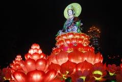 Het standbeeld van Guanyinbodhisattva Stock Fotografie