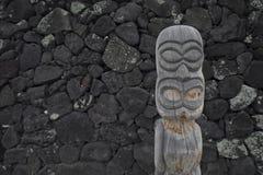 Het Standbeeld van Hawaï Tiki Stock Afbeelding
