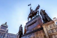 Het standbeeld van heilige Wenceslas Stock Foto's