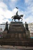 Het standbeeld van heilige Wenceslas op Vaclavske Namesti in Praag Royalty-vrije Stock Afbeelding