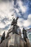 Het standbeeld van heilige Wenceslas op Vaclavske Namesti in Praag Stock Afbeelding