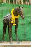 Het standbeeld van het bronspaard Stock Foto