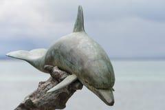 Het standbeeld van het dolfijnkoper Stock Afbeelding