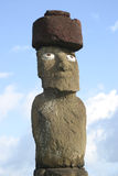 Het Standbeeld van het Eiland van Pasen met Hoed Royalty-vrije Stock Afbeelding