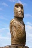 Het Standbeeld van het Eiland van Pasen - Tongariki stock afbeeldingen