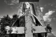 Het standbeeld van het kerkhof Stock Foto