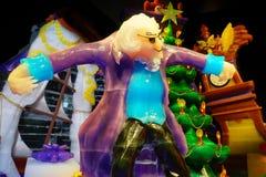 Het standbeeld van het notekrakerkarakter door ijs wordt gemaakt dat Royalty-vrije Stock Afbeeldingen