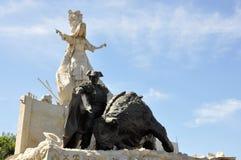 Het standbeeld van het stieregevecht royalty-vrije stock foto