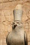 Het standbeeld van Horus Stock Fotografie