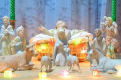 Het standbeeld van Jesus van de baby stock foto's