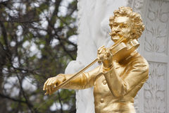 Het standbeeld van Johann Strauss in Wenen Royalty-vrije Stock Afbeelding