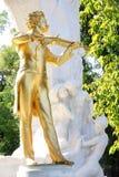 Het standbeeld van Johann Strauss, Wenen, Oostenrijk royalty-vrije stock fotografie