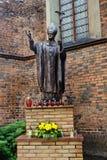 Het standbeeld van John Paul II van de paus Stock Afbeeldingen