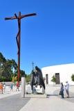 Het standbeeld van John Paul II van de paus in Fatima Stock Afbeelding