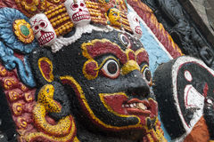 Het standbeeld van Kaalbhairav Stock Foto's
