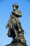 Het standbeeld van kapitein Cook Stock Foto's