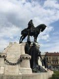 Het standbeeld van koningsmatthias corvinus, cluj-Napoca Stock Afbeeldingen