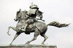 Het standbeeld van Kusunoki masashige stock fotografie