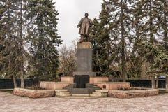 Het standbeeld van Lenin in een park in Rusland Royalty-vrije Stock Foto's