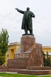 Het standbeeld van Lenin in Volgograd, Rusland Stock Foto