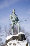 Het Standbeeld van Lexington Minuteman Stock Afbeeldingen