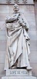 Het standbeeld van Madrid - Nebrija-van Portaal van Nationaal Archeologisch Museum royalty-vrije stock afbeeldingen