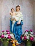 Het standbeeld van Mary status Stock Afbeelding