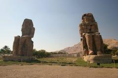 Het standbeeld van Memnon, Egypte Royalty-vrije Stock Fotografie