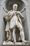 Het standbeeld van Michelangelo, Florence, Italië royalty-vrije stock afbeelding