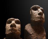 Het standbeeld van Moai van het Eiland van Pasen Stock Afbeeldingen