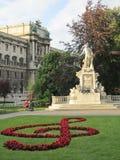 Het standbeeld van Mozart Stock Fotografie