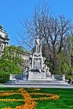 Het standbeeld van Mozart in Burggarten, Wien Stock Foto