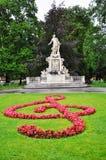 Het standbeeld van Mozart in Wenen stock afbeelding