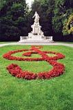 Het standbeeld van Mozart in Wenen Stock Foto's