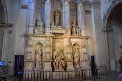 Het standbeeld van Mozes door Michelangelo in San Pietro in Vincoli Churc stock foto's