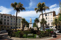 Het standbeeld van Napoleon in Ajaccio stad Stock Afbeeldingen