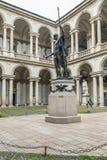 Het standbeeld van Napoleon in Pinacoteca Brera, Milaan stock fotografie