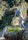 Het standbeeld van Neptunus, in de Boboli-Tuin, Florence royalty-vrije stock foto's
