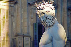 Het standbeeld van Neptunus, Florence Italy royalty-vrije stock foto