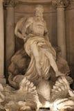 Het Standbeeld van Oceano/Trevi Fontein Royalty-vrije Stock Foto