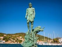 Het standbeeld van Odysseus stock fotografie