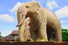 Het standbeeld van olifanten Royalty-vrije Stock Afbeeldingen