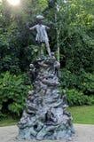 Het standbeeld van Peter Pan Stock Afbeeldingen