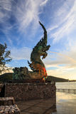 Het standbeeld van Phayanaga Stock Afbeeldingen