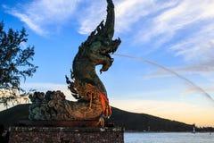 Het standbeeld van Phayanaga Stock Foto's